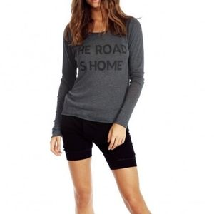 WILDFOX The Road Is Home Graphic Long Sleeve Top